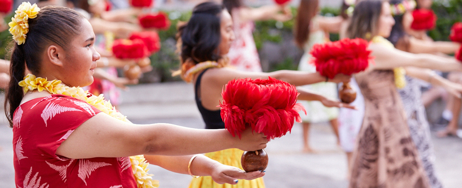 Hawaiian Dance at University of Hawaii Manoa