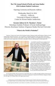 Keynote Address Flyer