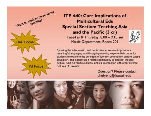 ITE 440 Teaching Asia and the Pacific