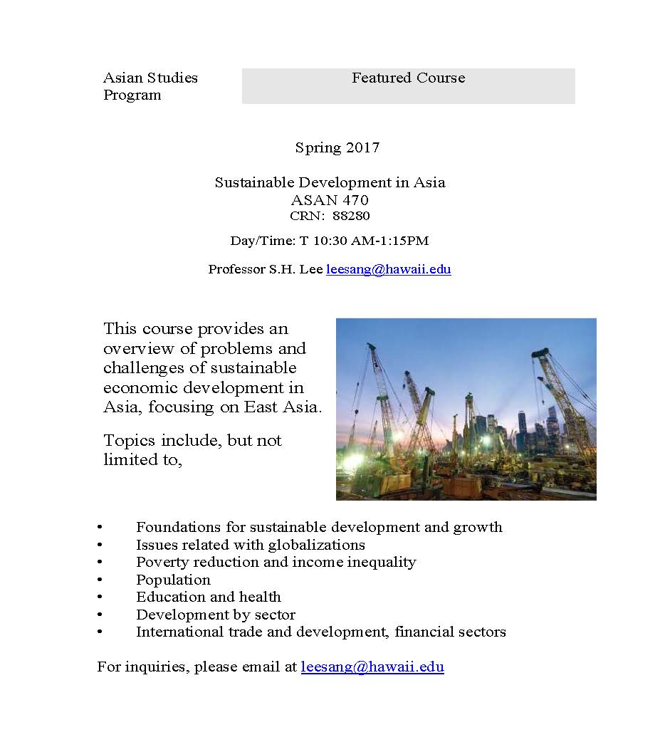 Featured Course – Sustainable Development in Asia | Asian ...
