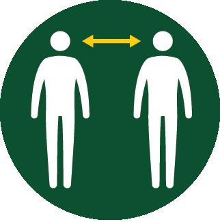 Maintain 6 feet social distance