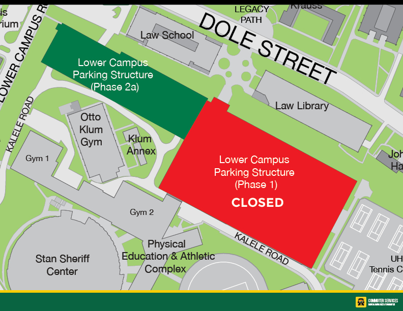 Lower Campus Parking Structure Partial Closure