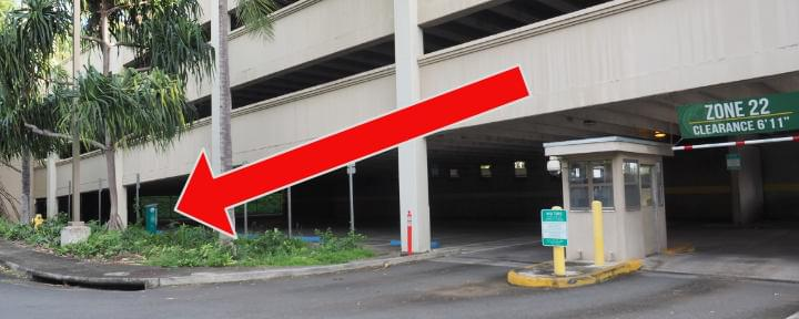 Dole Street Parking Structure Pay Station Location