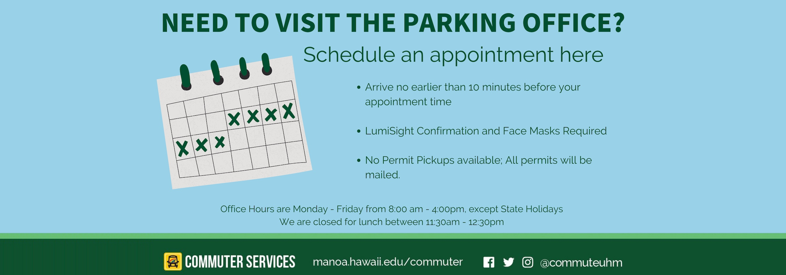 Commuter Services Schedule an Appointment
