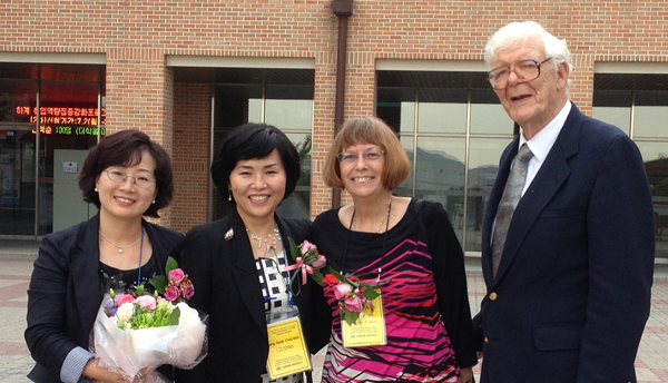(l to r) Yeon-A Son, Sang Sook Choi-Koh, Carol Ann Brennan, Frank Pottenger at Dankook University