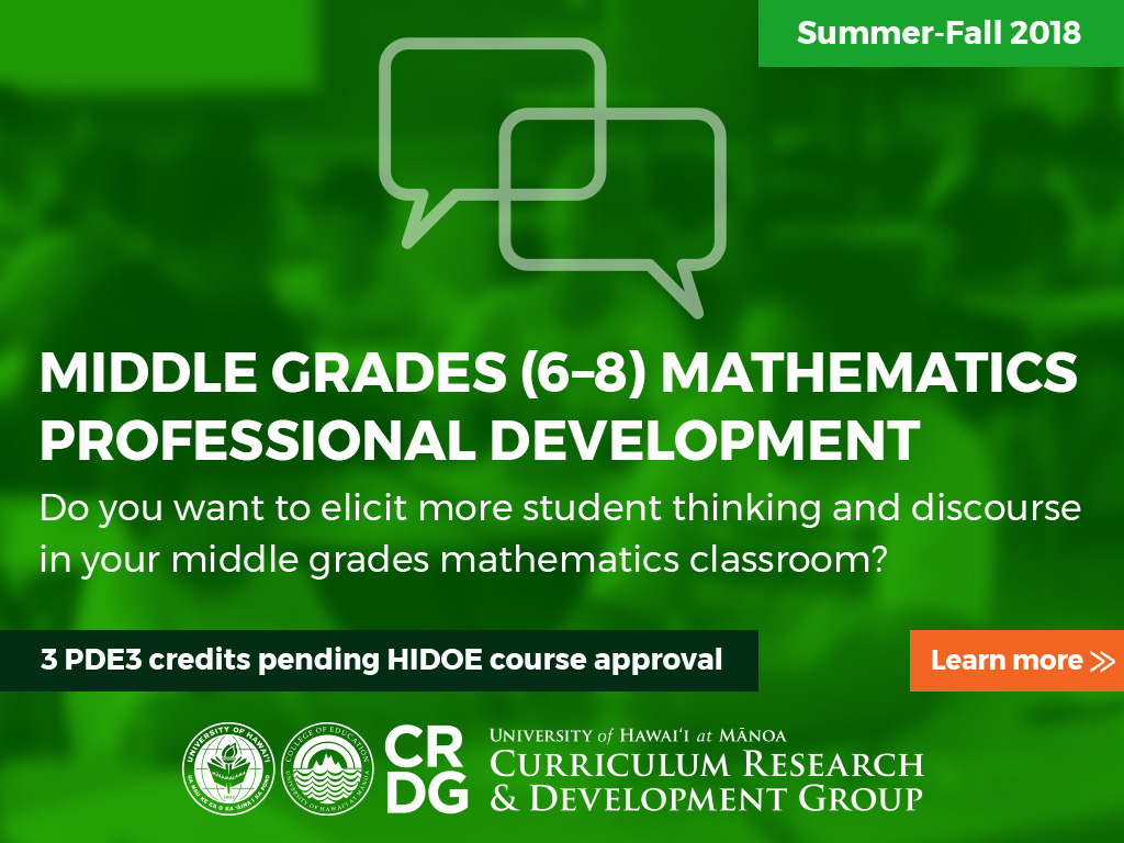 math professional development flyer