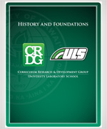 HISTORY AND FOUNDATIONS OF CRDG & ULS pamphlet cover