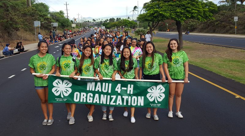 Maui Fair Parade 4-H Participants 2017