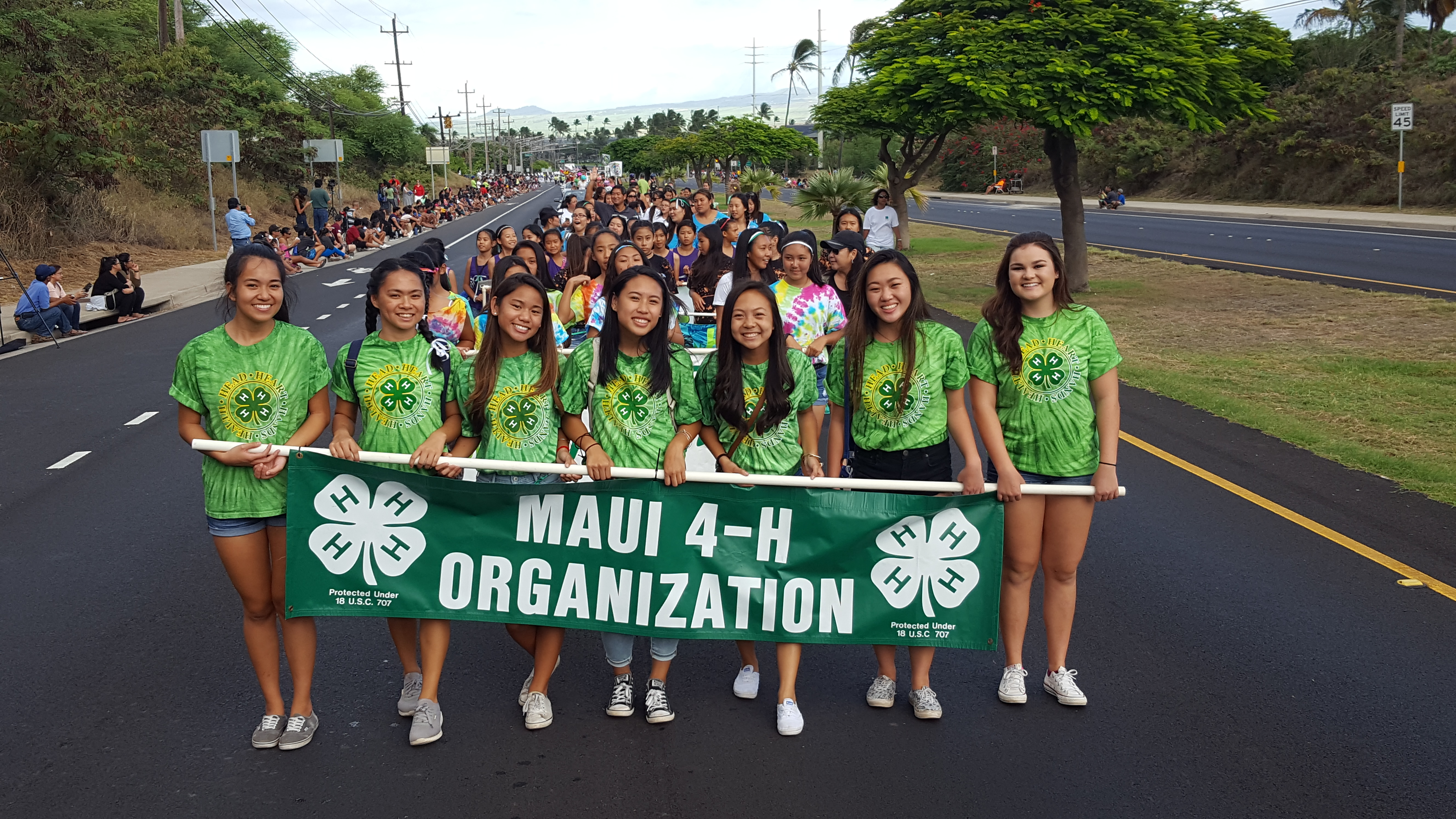 Maui 4-H Organization Parade Participants