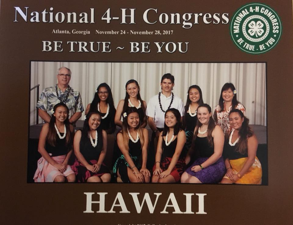 2017 National 4-H Congress Hawaii State Photo