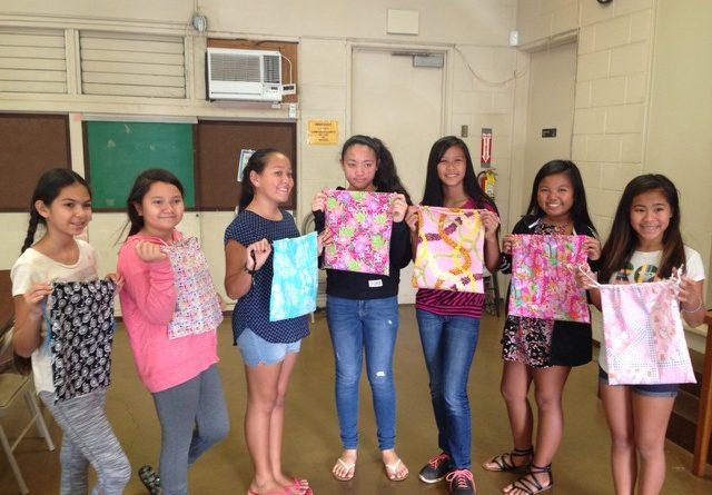 Wailani Diamonds Club with Their Drawstring Bags