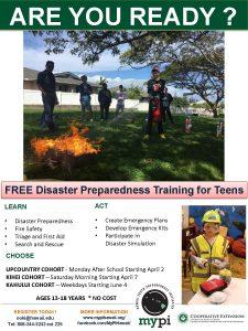 Spring Cohort Flyer for Disaster Preparedness Training