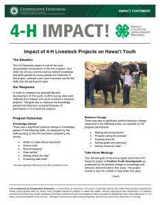 2016 Livestock Common Measures Impact Statement