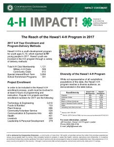 2017 4-H Reach Impact Statement
