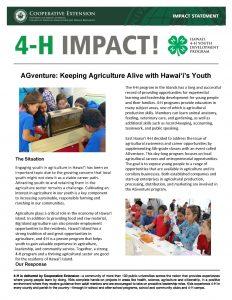 2018 AGventure Impact Statement