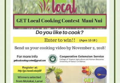 Flyer for Maui County Cooking Contest