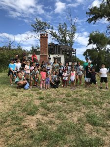 Group photo of the turn out for 2019 Beach Clean Up
