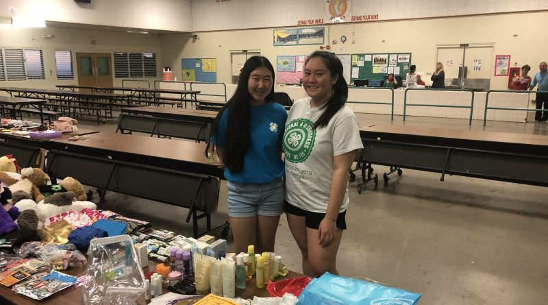 Shayla S. and 4-H members oranized community donation drive