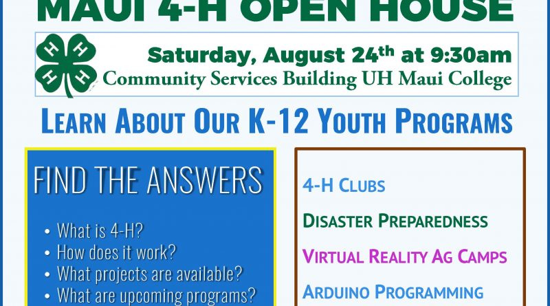Information on 4-H Open House