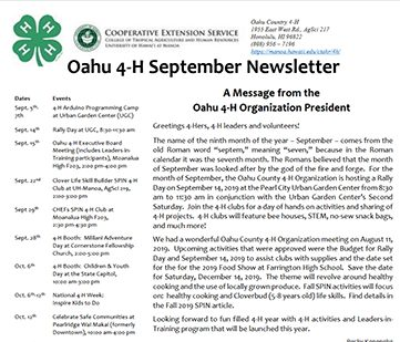 Picture of Oahu Newsletter PDF