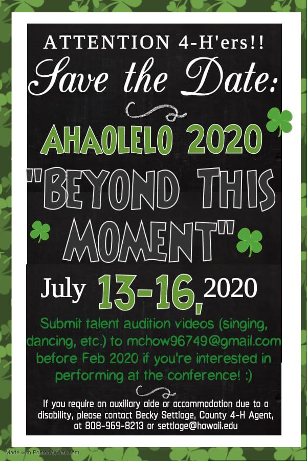 Ahaolelo 2020 Flyer