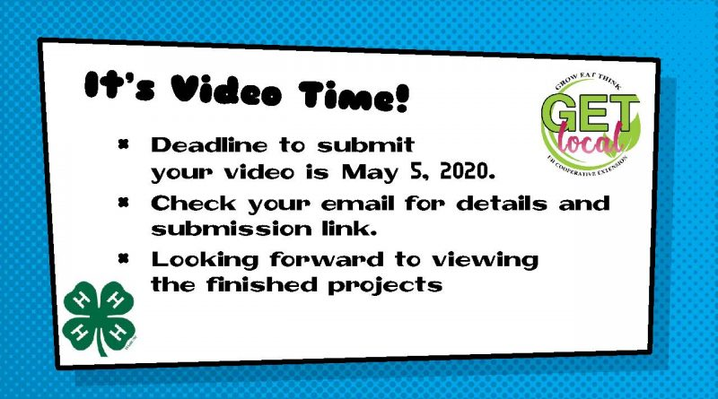 Video Submission Deadline is May 5, 2020
