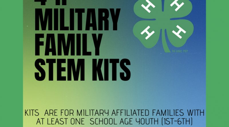 Military 4-H STEM Kits Flyer