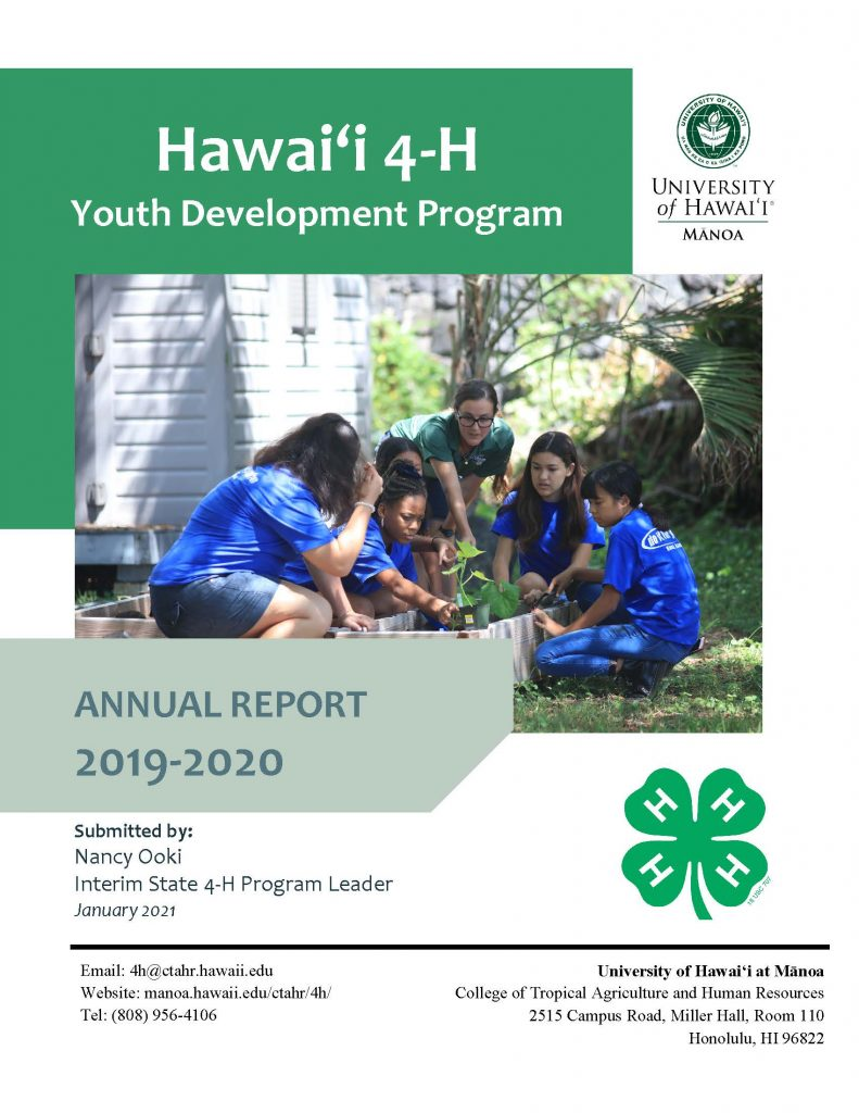 2019-2020 Hawaii 4-H Annual Report