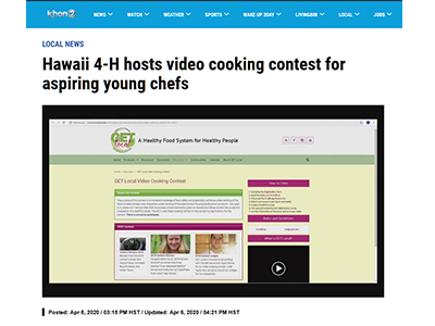 KHON Article about Cooking Contest
