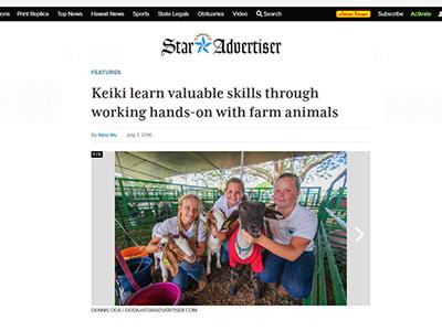 Star Advertiser about 4-H Livestock