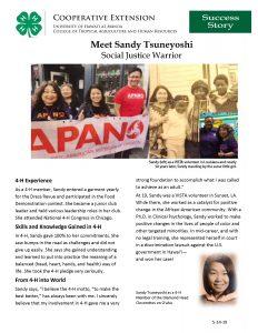 Dr. Sandy Tsuneyoshi Success Story