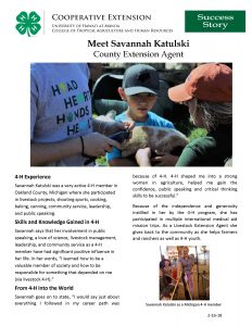 Savannah Katulski Success Story