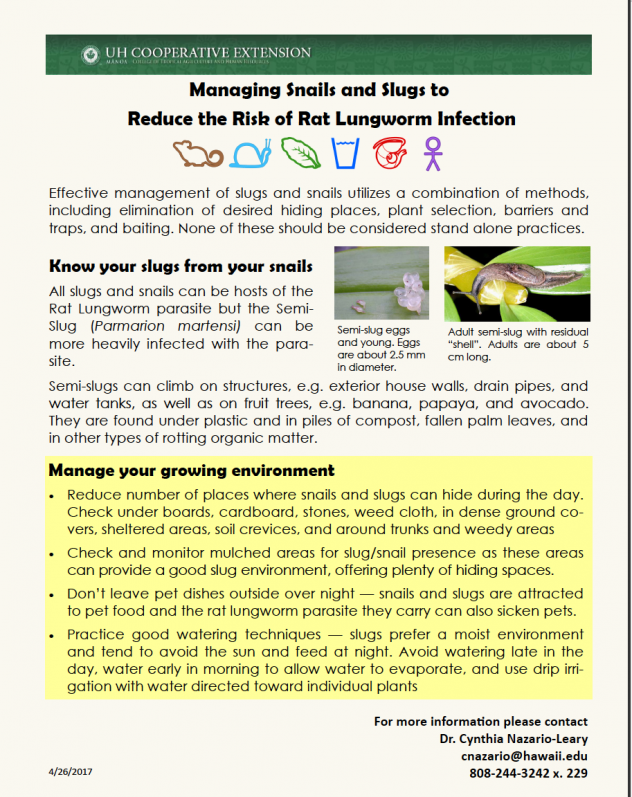 Snail and Slug Management handout
