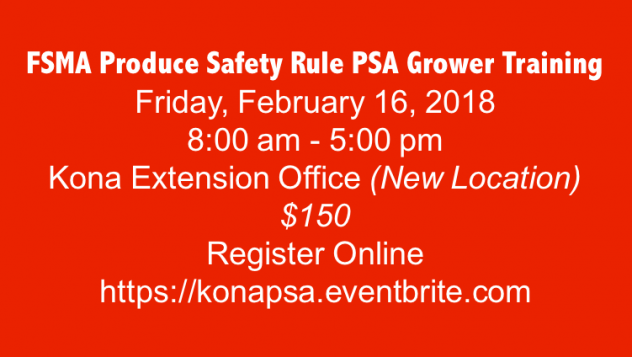 FSMA Produce Safety Rule PSA Grower Training