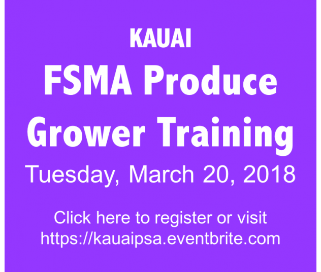 Kauai FSMA Produce Grower Training