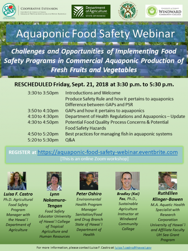Aquaponics Food Safety Webinar