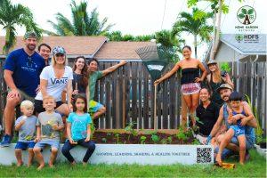 Home Garden Network Team in a garden