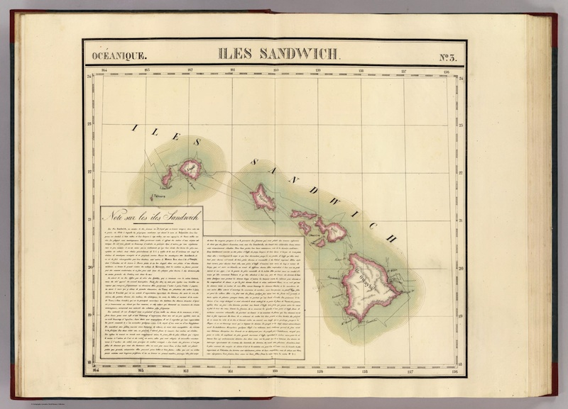 <p><strong>SF Fig. 1.3. </strong>(<strong>C</strong>)&nbsp;IIes Sandwich, Vandermaelen, 1827, Captain Philippe</p>