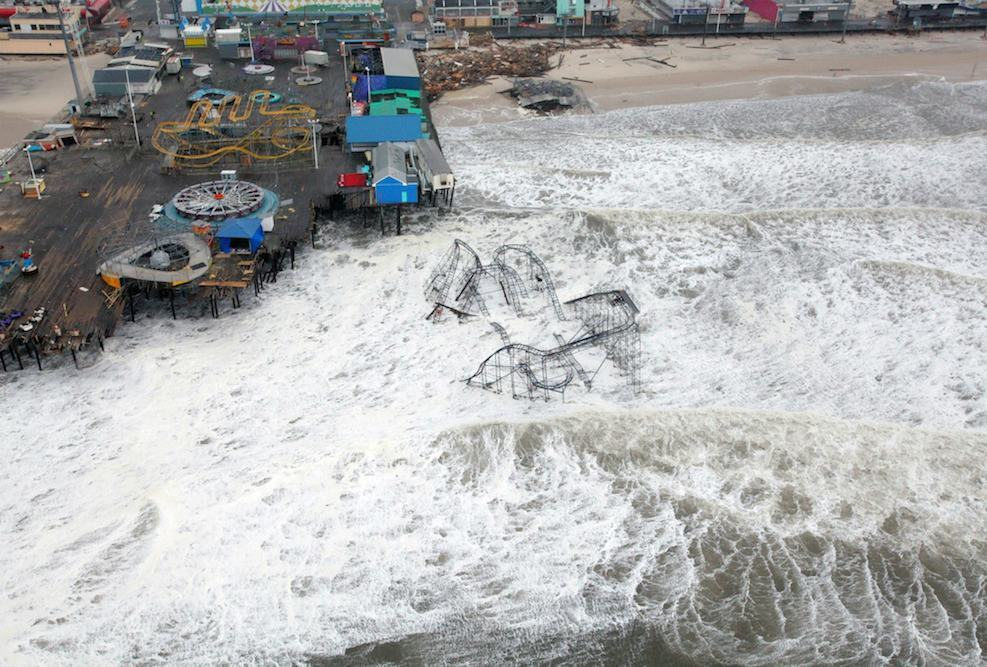 <p>Fig. 4.15.&nbsp;(<strong>C</strong>) Heavy damage to Casino Pier in Seaside Heights, New Jersey, from storm waves generated by Hurricane Sandy in October 2012</p>