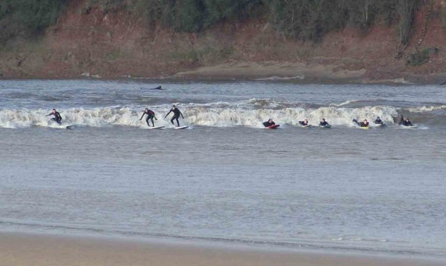 <p><strong>SF Fig 6.18.</strong>&nbsp;(<strong>C</strong>) Surfers riding a tidal bore in the Severn River, Gloucestershire, United Kingdom</p>