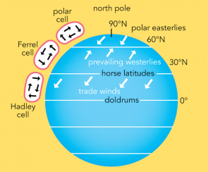 <p><strong>Fig. 3.10.</strong> Global atmospheric circulation patterns in the Northern Hemisphere</p><br />