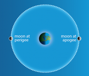 <p><strong>SF Fig. 6.12.</strong>&nbsp;(<strong>B</strong>) An accurate diagram showing the movement of the moon around the earth. Note that in both these diagrams the distance between the earth and moon is not to scale.</p><br />