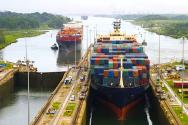 <p><strong>Fig. 8.1.</strong> A container ship transports cargo through the Panama Canal.</p><br />