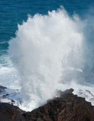 <p>Fig. 2.3. (<strong>B</strong>) The ocean interacting with the atmosphere via sea spray at the Halona blowhole on O'ahu.</p>