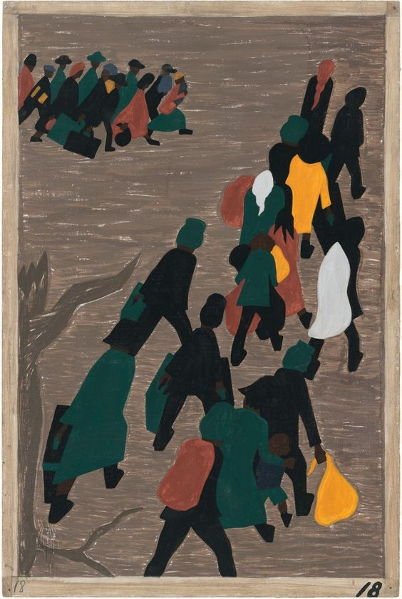 The migration gained in momentum by Jacob Lawrence