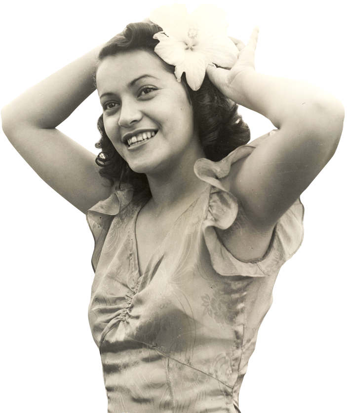 Archival image of UH Pineapple Queen 1947
