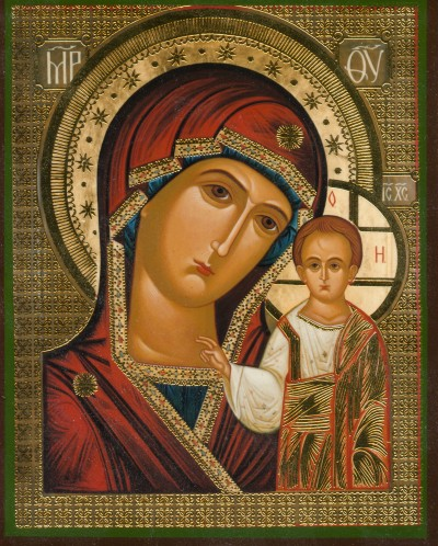 Reproduction of the Kazan Mother of God icon