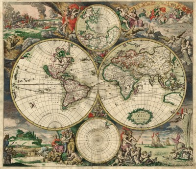World Map 1689 by Gerard van Schagen with link to image source