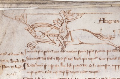 Charge!, illustration from the Liber Memoranda Camerarii with link to image source