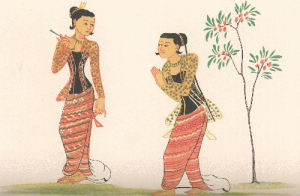 Dancing girls (Burma) by Gordon, M.D. with link to image source